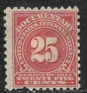 U.S. Revenue Documentary stamp scott r213 - 25 cent issue of 1914 - mh