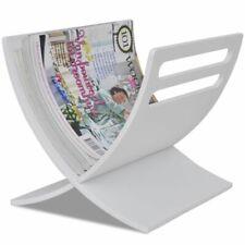 Houten tijdschriftenrek (wit) krantenbak tijdschriften rek kranten bak