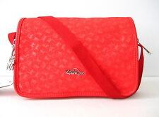 NWT Kipling Delphin N Shoulder Bag With Metal Monkey Cardinal Red MM