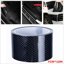Carbon Fiber Style Strip Tape Car Body Door Step Edge Scratch Sticker 7CM x 10M