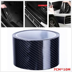 Carbon Fiber Style Strip Tape Car Body Door Step Edge Scratch Sticker 7CM x 10M