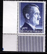 DR 802 B **, 5 RM Hitler Kammzähnung, Eckrand links unten