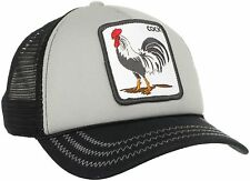 "Goorin Bros. Animal Farm Trucker Snapback Hat Cap LIGHT GREY/Black//""Cock"""