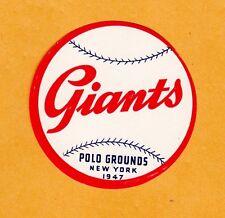 RARE OLD 1940s MLB BASEBALL DECAL NEW YORK NY GIANTS VINTAGE UNUSED POLO GROUNDS