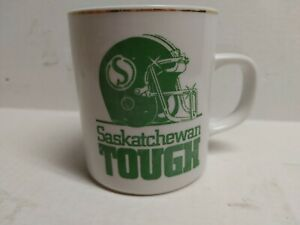 Vintage Saskatchewan Roughriders Coffee Mug Saskatchewan Tough