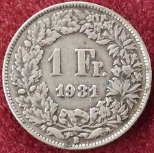 Switzerland 1 Franc 1931 (D1204)