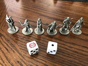 Lord Of Thr Rings Monopoly Replacement Tokens (6) And Dice (2)