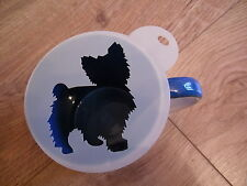 Laser cut Yorkshire terrier design coffee and craft stencil