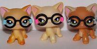 💞Littlest Pet Shop LPS accessories/Clothes 3 piece RANDOM glasses lot *NO PET💖