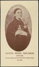 "santino-holy card""S.GEMMA GALGANI 8"