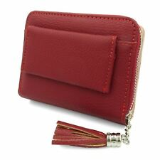 Ladies Soft Leather Zip Coin Purse Credit Card ID Holder With RFID Blocking UK