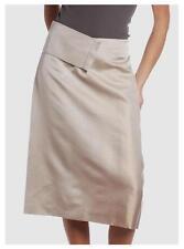 JIL SANDER shantung silk skirt gonna longuette pura seta beige 42 IT S BNWT