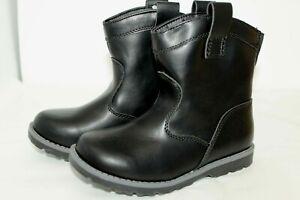 NWT Cat & Jack Girls Shoes Black Ankle Cowboy Boots Toddler Size 11