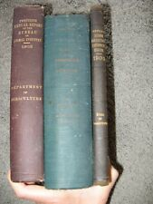 3 ANTIQUE BOOKS AGRICULTURE Experiment Station Bureau of Animal Industry NY, CT