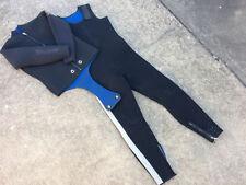 Vintage Aqua Lung Wet Suit Surf Scuba Snorkeling Water Beach Wind Two Piece