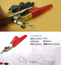 2PCS car No damage puncture  teeth Alligator Clips Pliers Test Probes  Cables