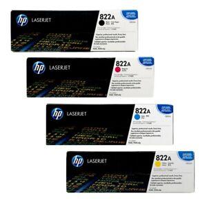 4 x Original Toner HP Color Laserjet 9500 9500HDN 9500MFP / C8550A -C8553A 822A