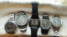 Lot of MENS Watches; FOSSIL, LORUS, OMAX etc Gents Working Watch Joblot