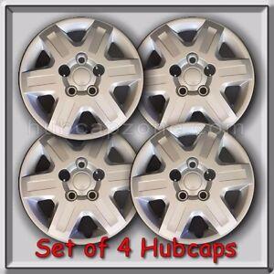 "2011-2012 16"" Dodge Grand Caravan Silver Bolt On Hubcaps, Wheel Covers Set of 4"