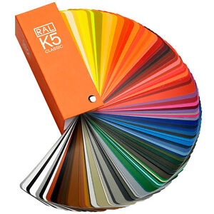 RAL K5 Classic Semi-Matte guide - Latest Edition shows all Classic colours