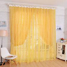 Topfinel Tende Voile Trasparente Occhielli con Gradiente di Colore Decorativi Finestra Balcone casa 2 Pezzi 140x160cm Rosa