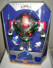 #9842 NRFB Mattel Disney Holiday Hero Toy Story Buzz Lightyear Christmas