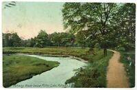 Postcard NJ Rahway River View Below Milton Lake Rahway New Jersey Vintage 1900's