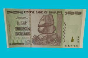 AA P-90 New UNC SERIES 8 pieces 50 TRILLION ZIMBABWE DOLLARS BANKNOTE