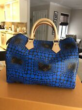 Louis Vuitton Yayoi Kusama Blue Speedy w/Receipt