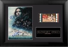 Rogue One (2016) Cast Signed 35 mm Film Cell Display Framed Star Wars
