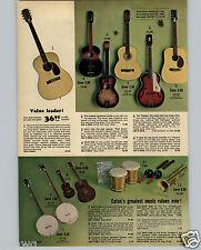 1965 PAPER AD Nassau Arch Top Guitar Trail Driver Cowboy Cole's Bongo Drums