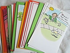 Humorous GREETING CARD LOT of 32 UNUSED W Envelopes Thank You by Just My Style