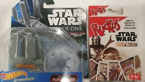HOT WHEELS STAR WARS STARSHIPS  'IMPERIAL CARGO SHUTTLE' + RARE COLLECTORS CARDS