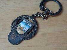 art deco enamel domex noquel prata portugal madeira key chain