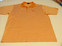 Mens Jeff Rose L cotton made in Italy short sleeve polo shirt casual orange EUC@