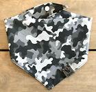 SNOW CAMO ~ Dog Bandana | Snap | Tie | Camouflage | Hunting