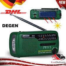 DEGEN DE13 Kurbelradio-Weltempfänger FM AM SW Kurbeldynamo Solare DE