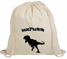 Daddysaurus festa del papà papa 'Dinosauro fantastico Palestra Bianco con coulisse Zaino