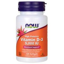 NOW Foods Vitamin D-3  5000 IU - 120 Softgels D3  5,000 IU