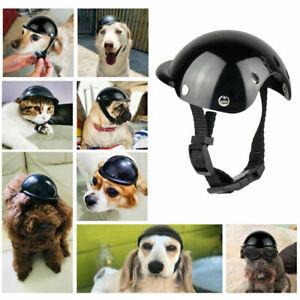 Small Dog Cat Helmet Hat Safety Outdoor Motorcycle Bike Helmet Cap Pet Supplies