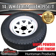 14 X 6 195 LT White Sunraysia Wheel Rim & Tyre Suits Ford. Trailer Caravan Boat