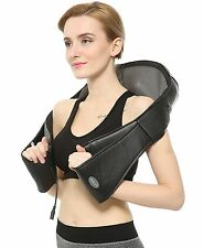 New FIVE S FS8801-BLK Shiatsu Kneading Neck & Back Massager with Heat (Black)