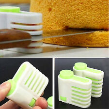 2pcs Cake Separator Cake Bread Cutter Slicer Cutting Fixator Baking Pastry Tools