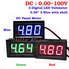 DC 0-100V 3-Digital LED Volt Meter Voltmeter 12V 24V 36V 48V 60V 72V Car Battery