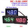 DC Digital LED Panel Voltage Meter Voltmeter 12V 24V 36V 48V 60V 72V Car Battery