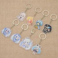 1pc Anime Hatsune Miku Cartoon Keyring Pendant Hanging Transparent Keychain Gift