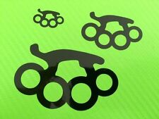 Decal Stickers Streetfighter knuckle duster Logo Ref #22