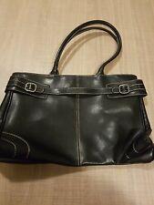 Black PVC Hand Bag.