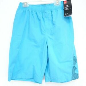 New Under Armour Boys Volley Swim Trunk Keep Cool Board Shorts Youth L