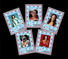 LYNDA CARTER WONDER WOMAN 50 COLLECTIBLE CARDS NEW IN BOX - ARGENTINA -